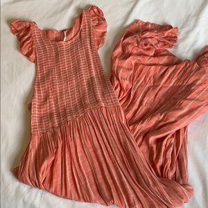 Free people pink midi dress